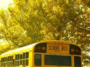 Vintage School Bus Background