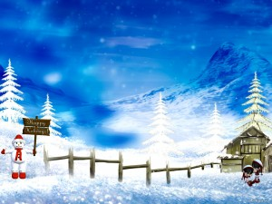 Happy Holiday Background for PowerPoint