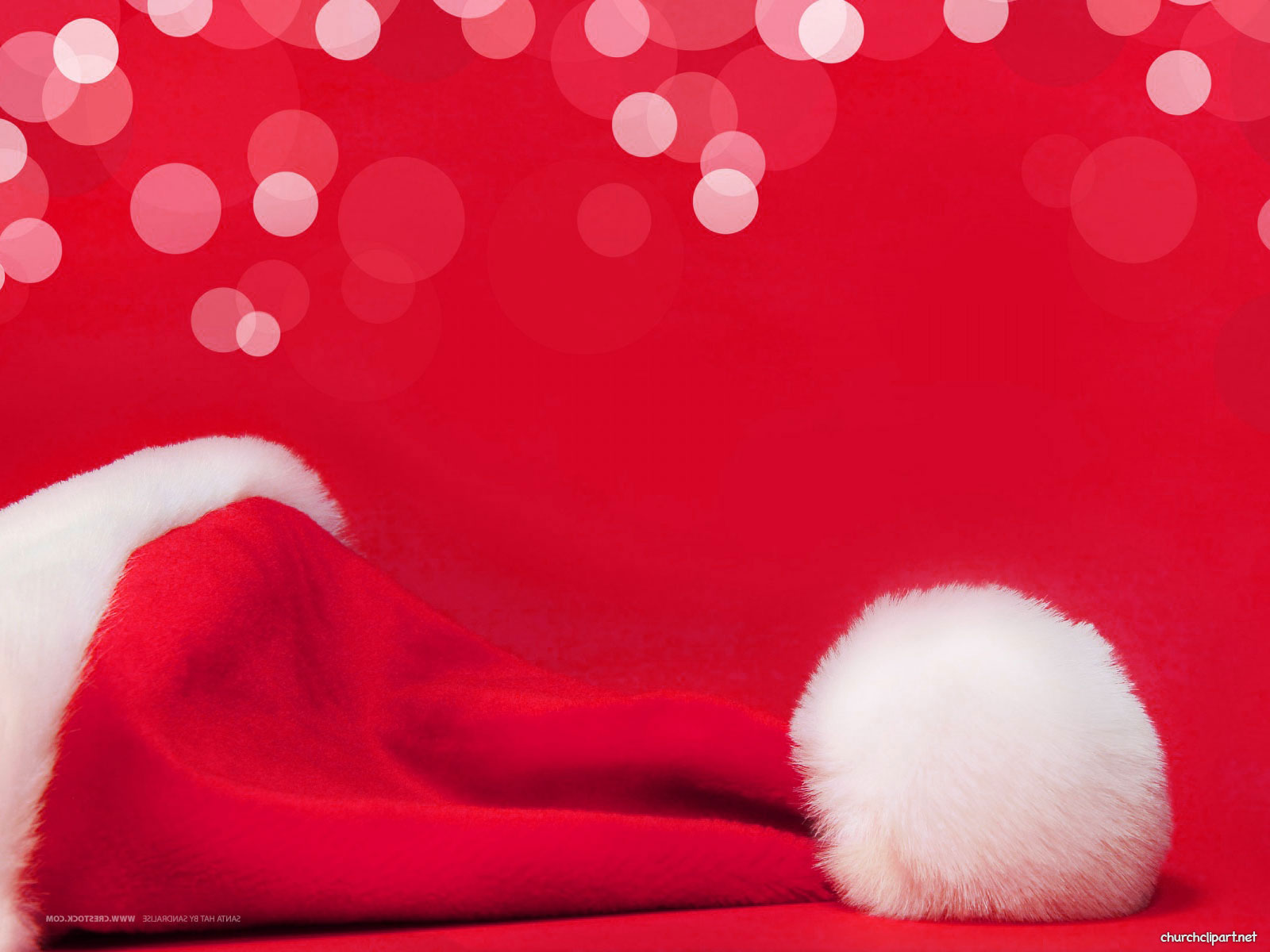 Santa Claus Hat Christmas Background