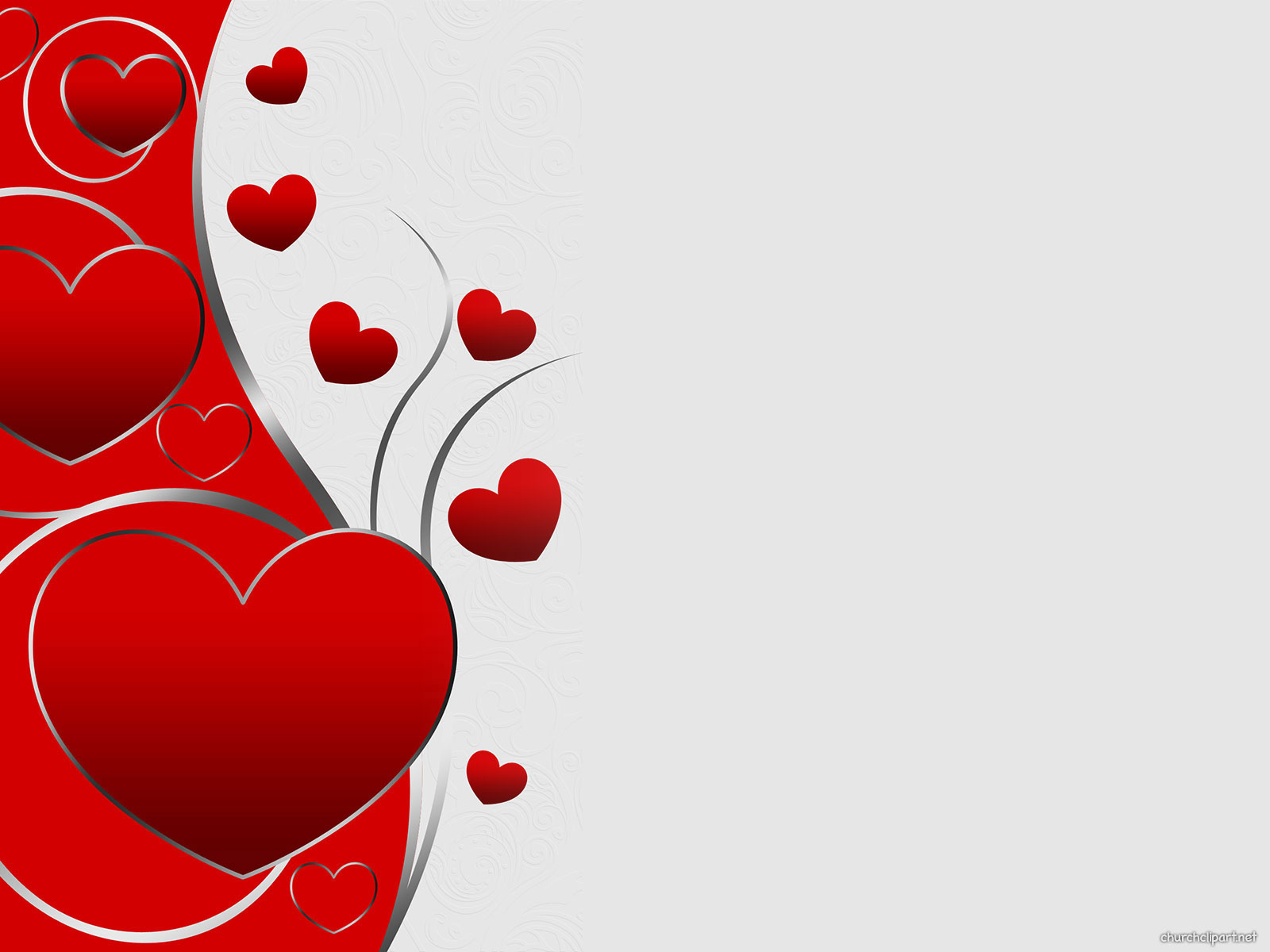 Valentine Heart Background for PowerPoint